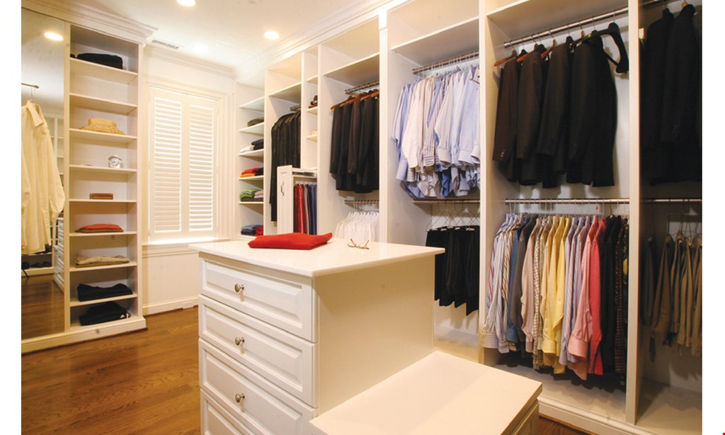 Product image for Closet Factory $250 off plus FREE Installationon purchases of $2000 or more.