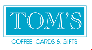 Tom's Coffee, Cards & Gifts logo