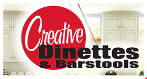 Product image for Creative Dinettes & Barstools $50 off any purchase of $500 or more.