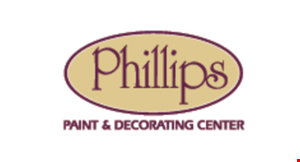Product image for Phillips Paint & Decorating $25 0OFF any window treatment order over $2,500 -or- $10 0OFF any window treatment order over $1,000 -or- $50off any window treatmentorder over $500