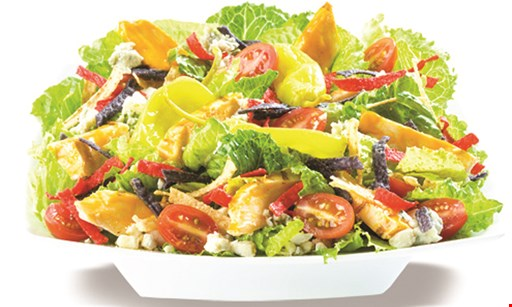 Product image for Saladworks Free fountain drink with the purchase of an entree.
