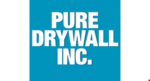 Product image for Pure Drywall Inc. 10% off any job