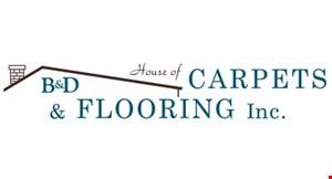 B & D House of Carpets logo
