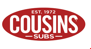 Product image for Cousins Subs $10 off any online order