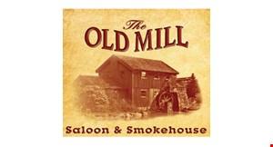 The Old Mill Saloon & Smokehouse logo