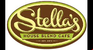 Product image for Stella's House Blend Cafe FREE sticky bun when you buy 5 sticky buns.