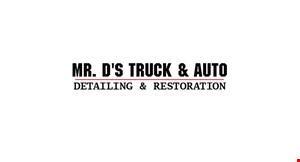 Mr D's  Truck & Auto Detailing & Restoration logo