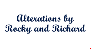 Alterations By Rocky and Richard logo