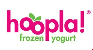 Hoopla Frozen Yogurt logo
