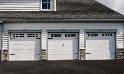 Product image for Precision Overhead Garage Door Service $200 off a new single car garage door. $300 off a new double car garage door.