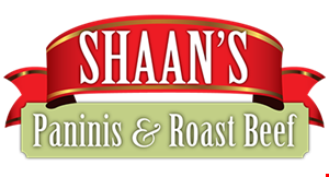 Shaan's Paninis & Roast Beef logo
