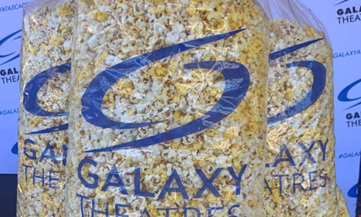 Product image for Galaxy Theatre Atascadero Free $25 gift card with purchase of $25 giant fresh bag of popcorn