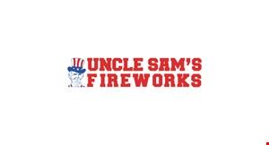 Uncle Sam's Fireworks logo