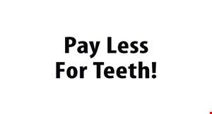 Pay Less for Teeth logo