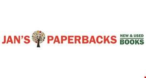 Jan's Paperbacks logo
