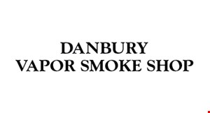 Product image for DANBURY VAPOR SMOKE SHOP 10% OFF your entire purchase of cigars, e-cigarettes, vaporizers, glassware and glass accessories
