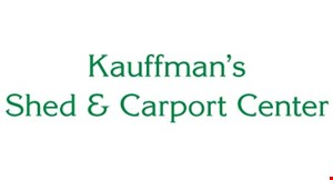 Shed and Carport Center (Kauffmans) logo