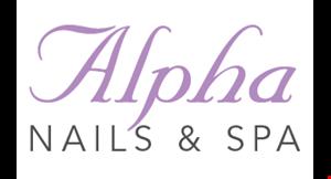Alpha Nails & Spa logo