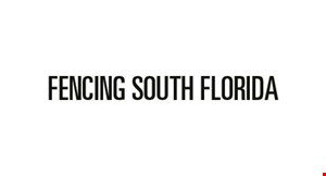 Product image for Fencing South Florida FREE GATE WITH PURCHASE OF EVERY 150 FT. OF FENCING UP TO A $450 VALUE.