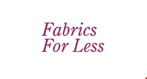 Fabrics for Less logo