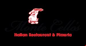Monte Cello's Italian Restaurant & Pizzeria logo