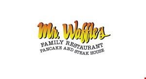 Mr Waffle's Pancake and Steakhouse logo