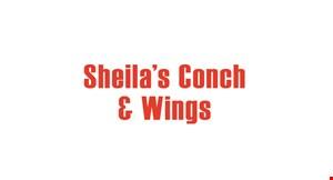 Sheila's Conch &  Wings logo