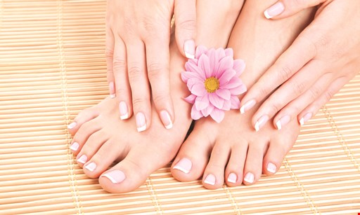 Product image for Lisa Nails & Spa $56.99 powder gel manicure with a jelly pedicure
