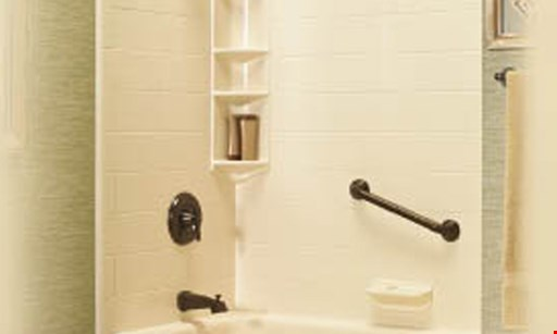 Product image for Bath Fitter 10% off up to $450 on a complete Bath Filter system AND a free corner shelf.
