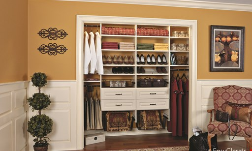 Product image for Contemporary Closets 20% OFF Any Organization Project Of $2,000. 10% OFF Any Flooring Project.