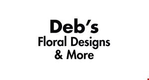 Deb's Floral Designs & More logo