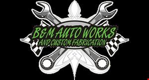 B & M Auto Works logo