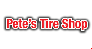 Pete's  Tire Shop logo