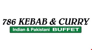 786 Kebab & Curry Indian & Pakistani Buffet logo