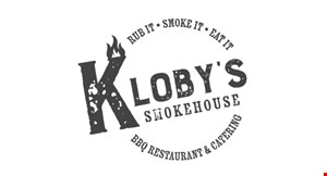 Product image for Kloby's Smokehouse 10% off any purchase of $60 or more