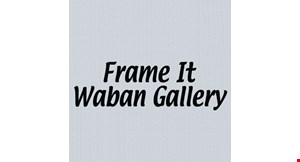 Frame It / Waban Gallery logo