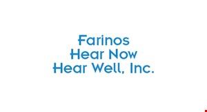 Farino's Hear Now Hear Well logo