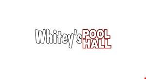 Whiteys Pool Hall logo