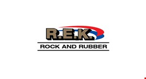 R.E.K. Rock and Rubber logo