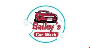 Bailey's Car  Wash logo