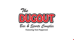 The  Dugout  Sports Complex  Featuring Toni Pepporonis logo