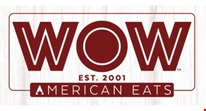 Product image for WOW Cafe free snack or side with the purchase of any entree.