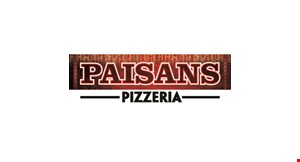 Product image for Paisans  Pizzeria $10 OFF $40