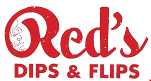 Red Dips and Flips logo