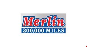 Merlin's 200,000 Miles logo