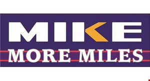 Product image for Mike More Miles $60 off set of 4 Tires, 200,000 Mile Warranty.