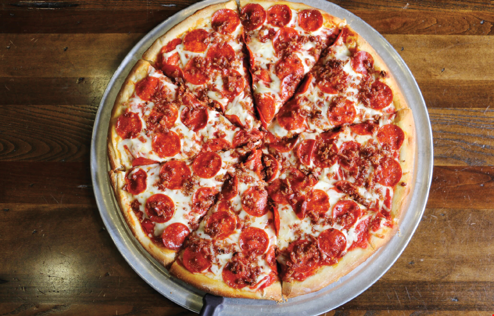 """Product image for Johnny's Pizza - Cary FREE 14"""" Cheese Pizza with purchase of Large18"""" 2 Topping Pizza."""