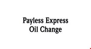 Payless Express Oil Change logo