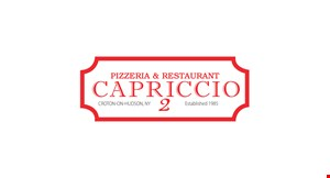 Product image for CAPRICCIO PIZZA $2.50 off any large pizza
