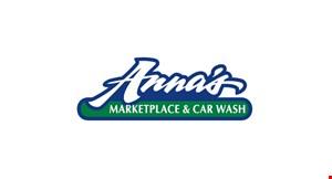 ANNA'S MARKETPLACE & CAR WASH logo